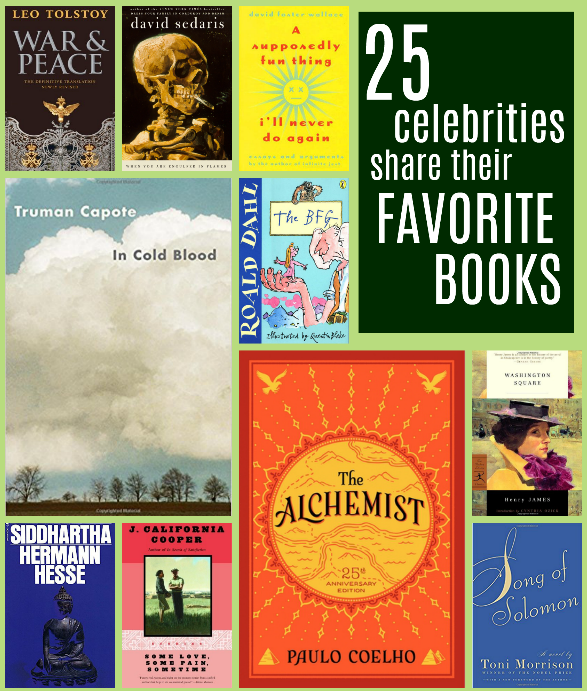25 Celebrities Reveal Their Favorite Books Favorite Books Fantasy Book Reviews Classic Must Read Books