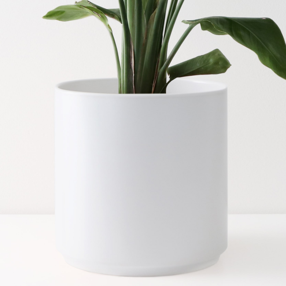 Peach Pebble 10 Inch Modern Ceramic Planter Matte White Walmart Com In 2020 White Ceramic Planter Indoor Flower Pots Indoor Planters