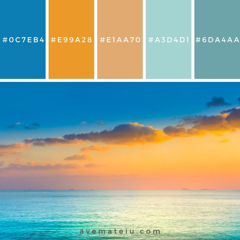 Relax Outdoor Landscape Texture Space Clear Color Palette 292 Ave Mateiu Seeds Color Palette Sunset Color Palette Bright Paint Color Schemes