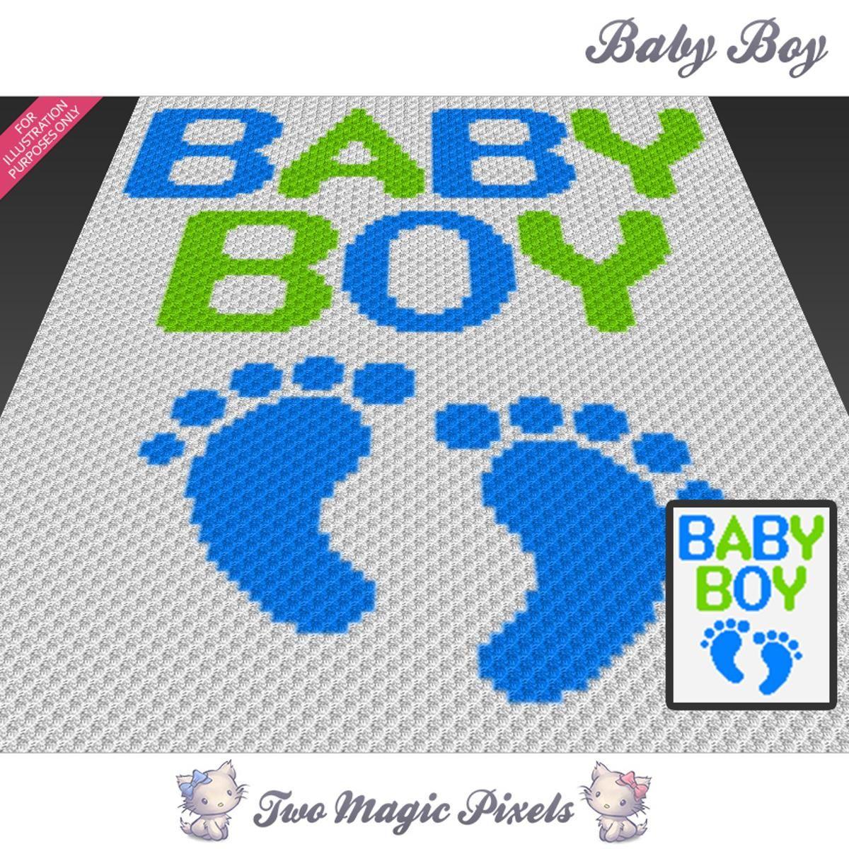 Baby Boy C2C Crochet Graph | Pinterest | Decken, c2c Häkeln und ...