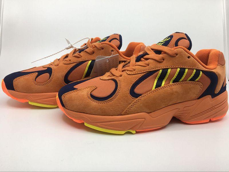 b3ad46672539 Newest Men Adidas YUNG-1 Orange Yellow Navy Goku B37613 ...