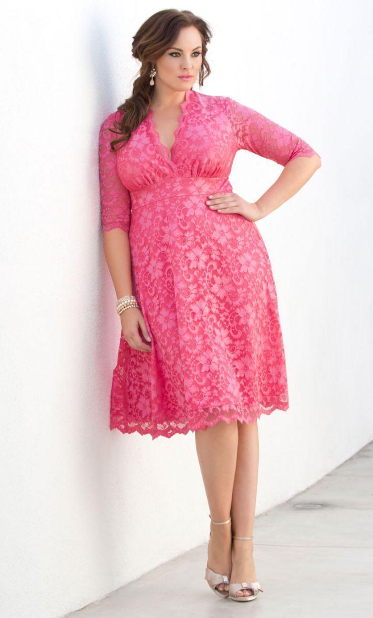 Mademoiselle Lace Dress #PlusSizeDressesPink | Plus Size Dresses ...