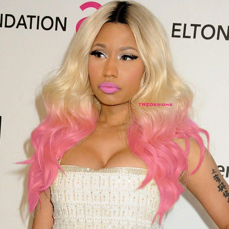 Nicki Minaj Blonde Pink Hair Nicki Minaj Wig Blonde To Pink Ombre