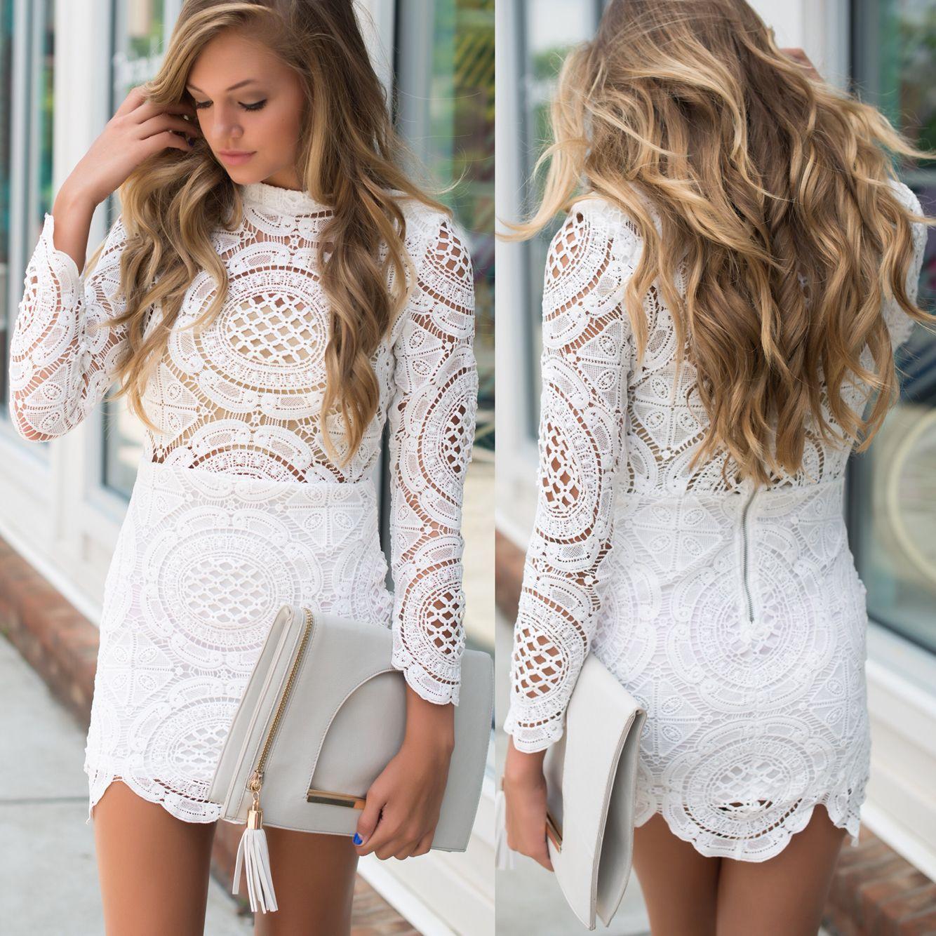 Lace dress #swoonboutique