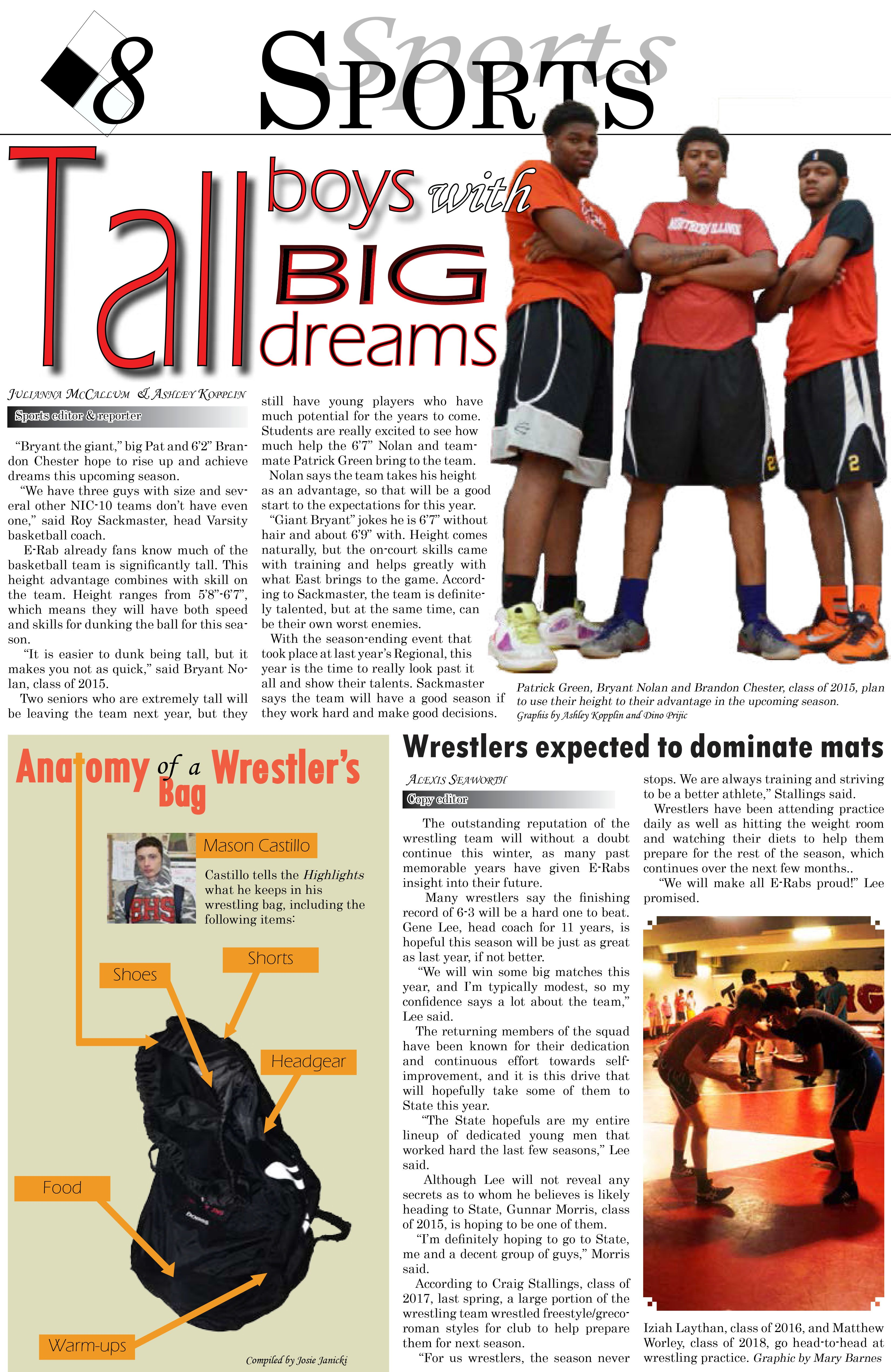 East High School, News Paper, issue 2, page 8, sports