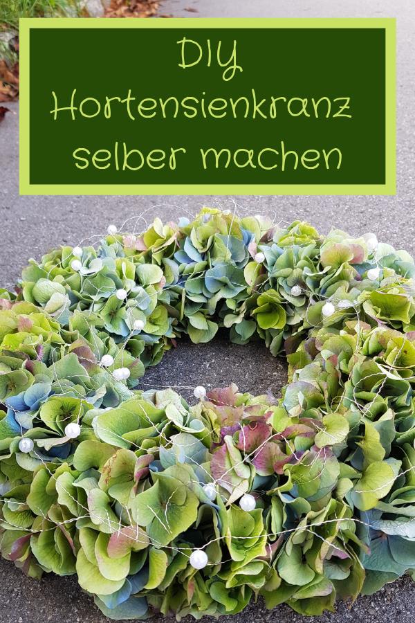 Anleitung zum kreieren eines Hortensienkranzes DIY Anleitung vom Floristen Deine Herbstdeko aus Hortensien selber machen #DIY#herbst#hortensien#ANLEITUNG#herbstdekoration #herbsttischdekorationen