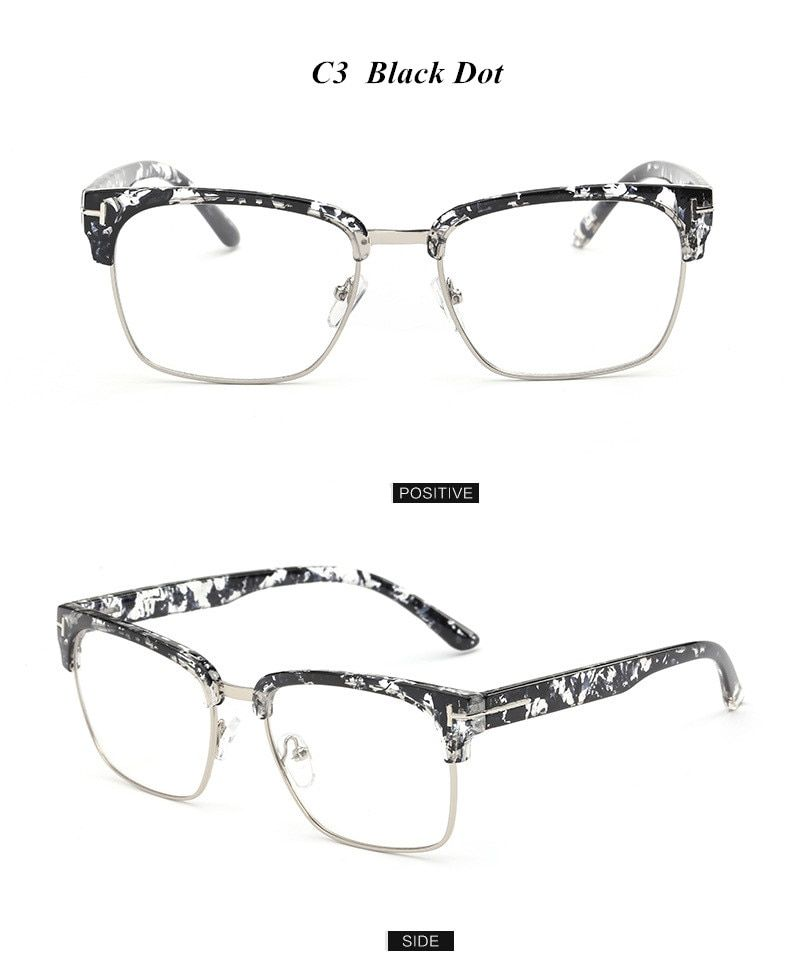 ac7e6f5f2719 Brand Half Frame Female Eyeglasses Men Vintage Eye Glasses Frame for ...