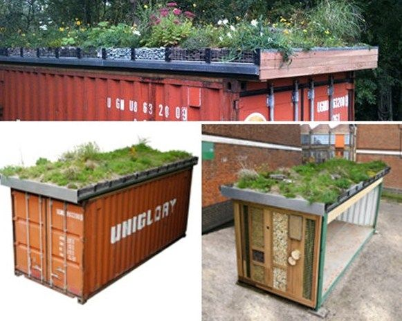 shipping container roof - google