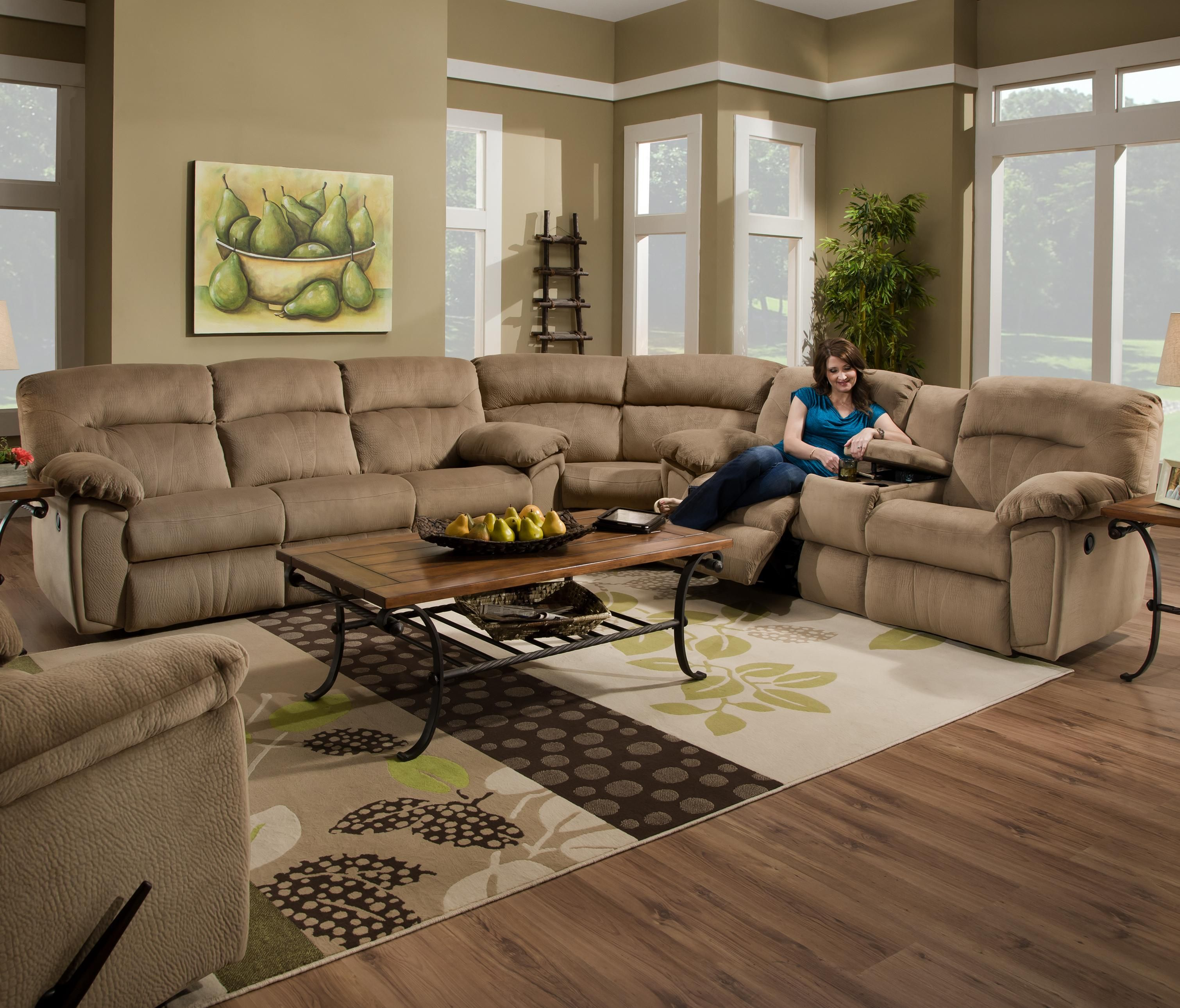Splendor Collection 591 Reclining Sectional by Design 2 Recline