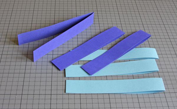 Flechtfische bastelidee papier papier falten und papierfisch - Fische basteln aus papier ...