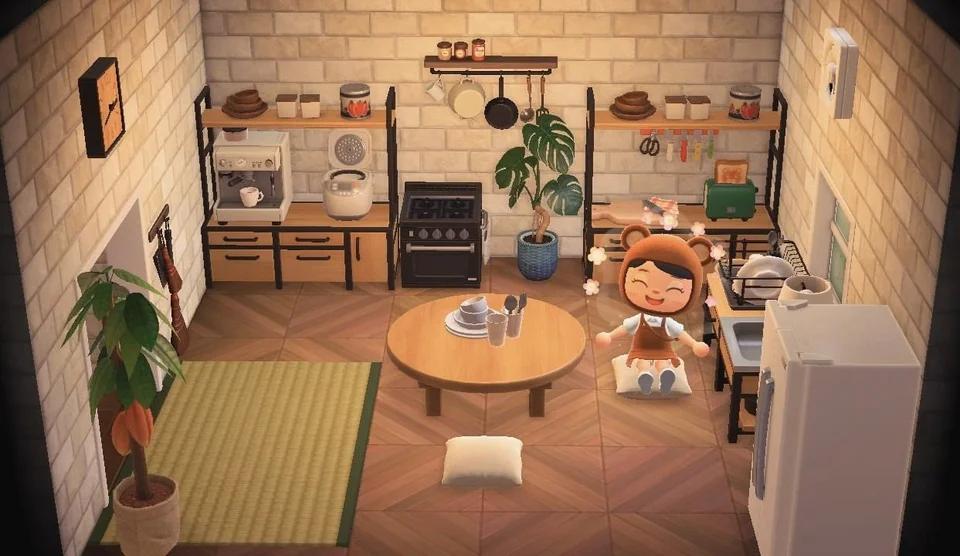 My Take On The Ironwood Kitchen Animalcrossing Animal Crossing New Animal Crossing Kitchen
