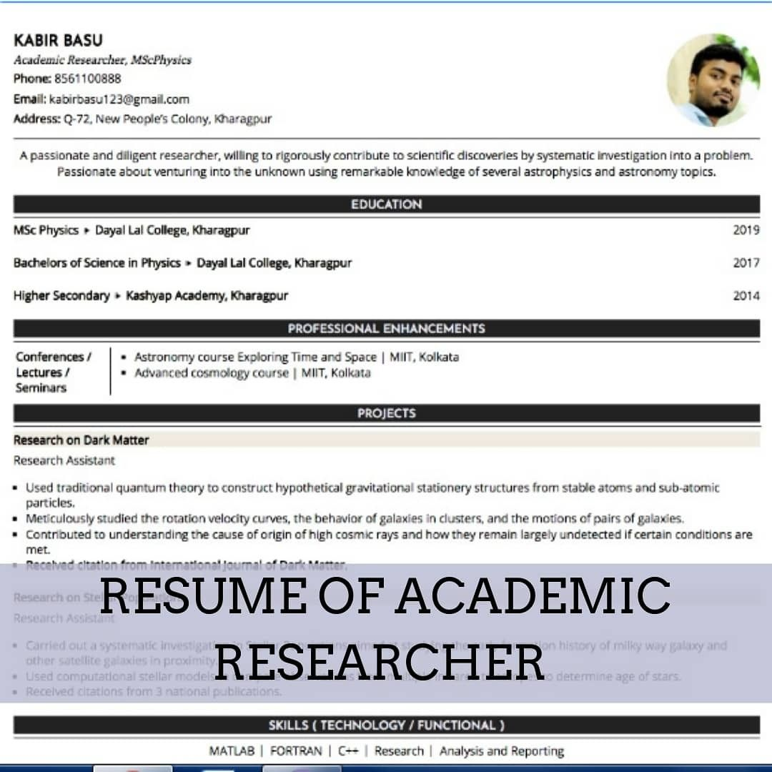 every researcher needs to list down his/her work in a supermarket supervisor resume free professional cv writing entry level dietitian examples
