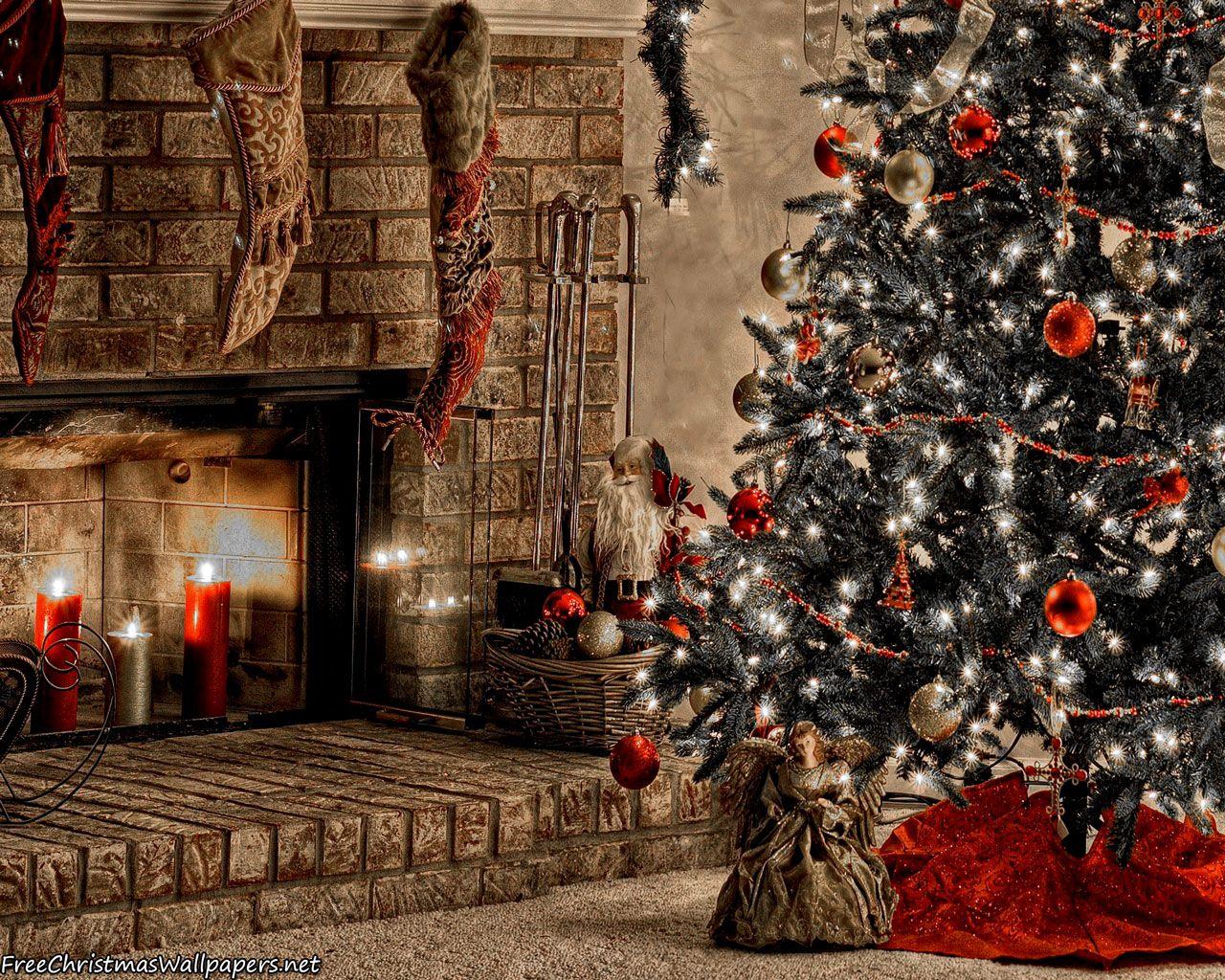 Warm Christmas Fireplace Christmas Wallpaper Free Christmas Phone Wallpaper Christmas Fireplace