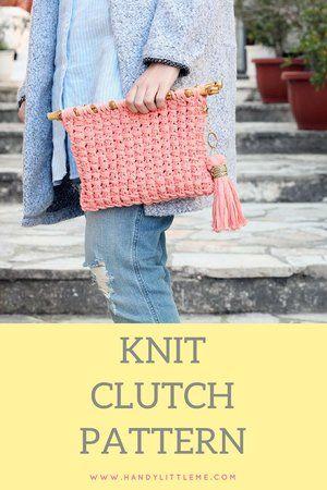Knitted Clutch Bag Free Pattern Pinterest Bag Pattern Free