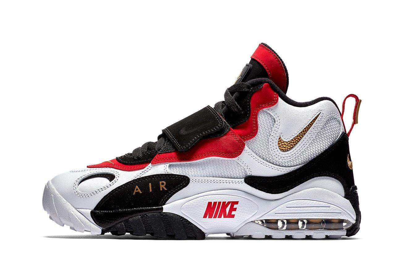 07851e83da5914 Nike Speed Turf Max february release white metallic gold black gym red  footwear sneaker shoes 2018 info