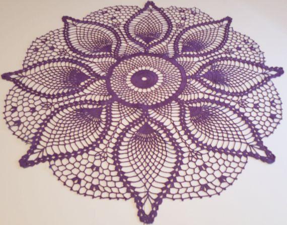 Handmade Crochet Doily, crochet table topper, handmade doily ...