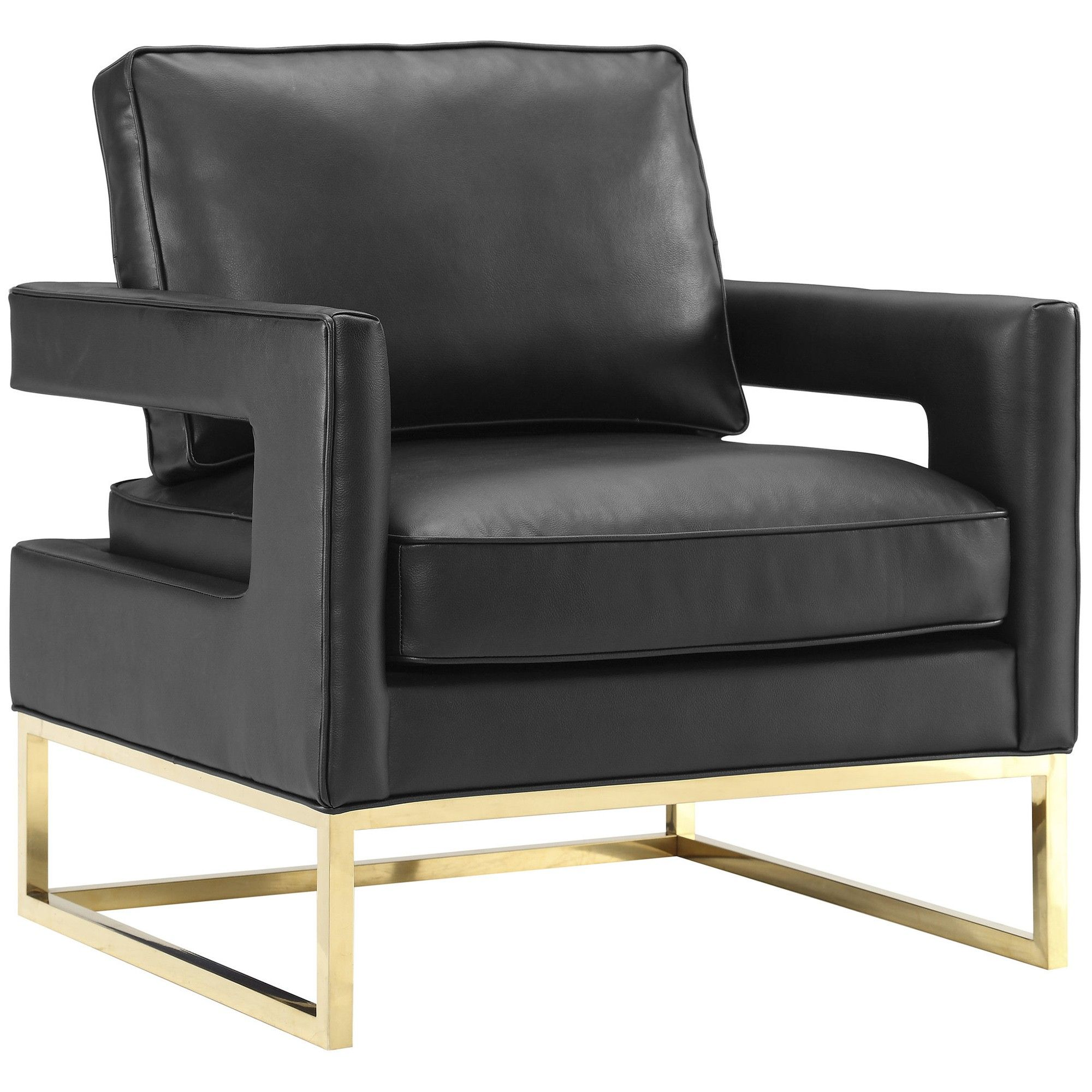 Avery Chair Black Office In 2019 Black Leather Chair