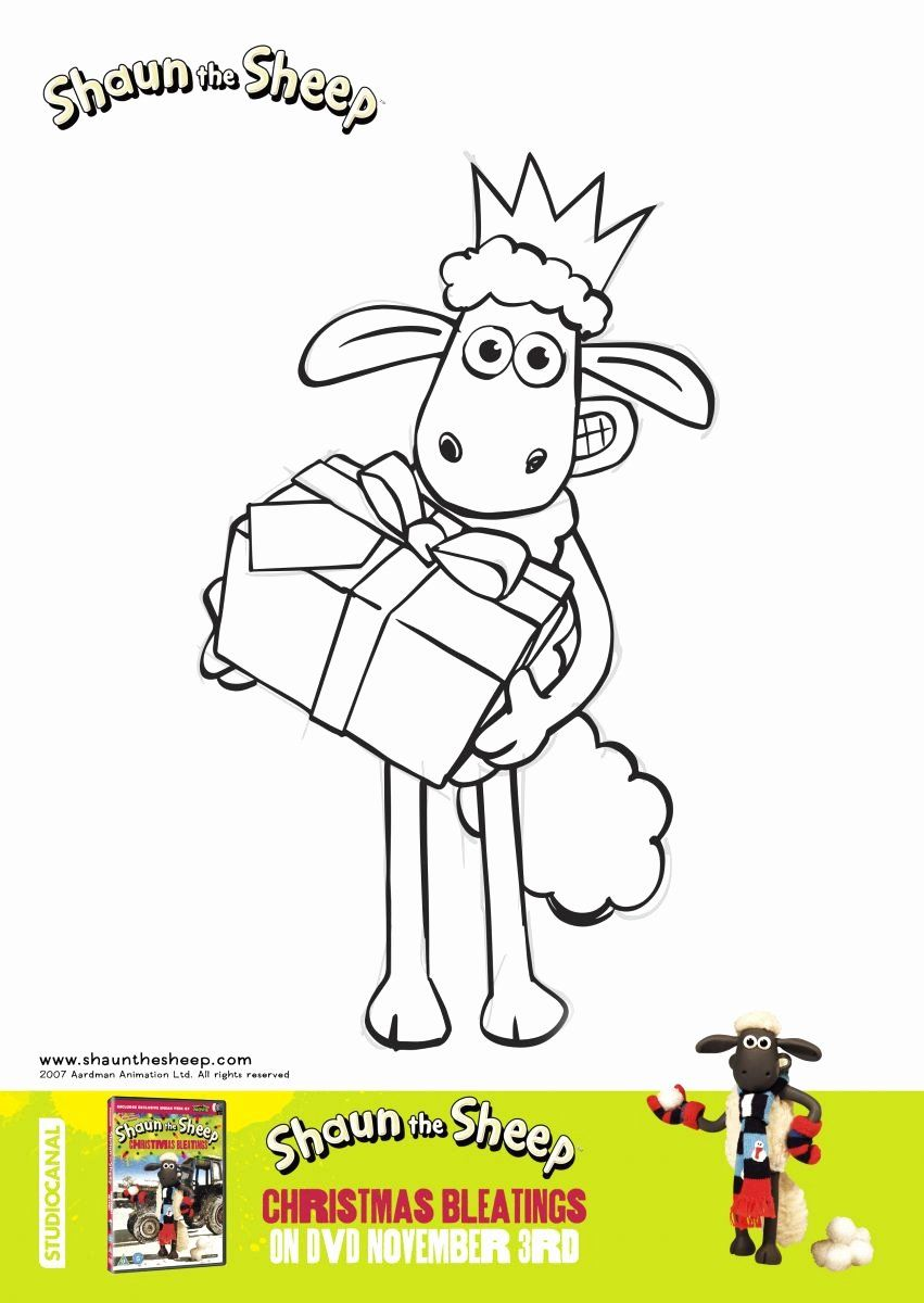 Shaun The Sheep Coloring Page Best Of Shaun The Sheep Christmas Bleatings Colouring Sheets Kid Shaun The Sheep Sheep Drawing Coloring Pages