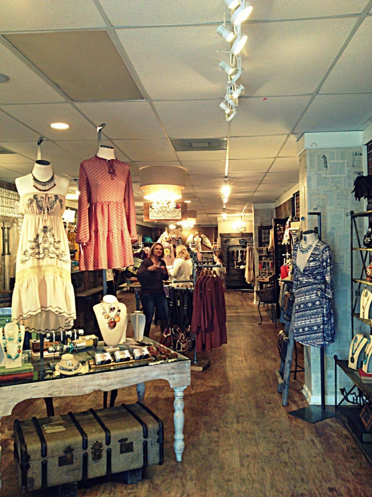 Boutiques In Blue Ridge. Does your consignment shop look so intriguing when customers first step in? hopes so! After all, you want to tempt but not overwhelm folks to start with. (Who knows what the vintage trunk under the entry table holds? Could be spare store supplies!) In Blue Ridge. Does your consignment shop look so intriguing when customers first step in?  hopes so! After all, you want to tempt but not overwhelm folks to start with. (Who knows what the vintage trunk under the entry table holds? Could be spare store supplies!)Does your consignment shop look so intriguing when customers first step in?  hopes s...