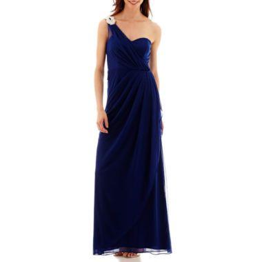 One Shoulder Side Draped Dress