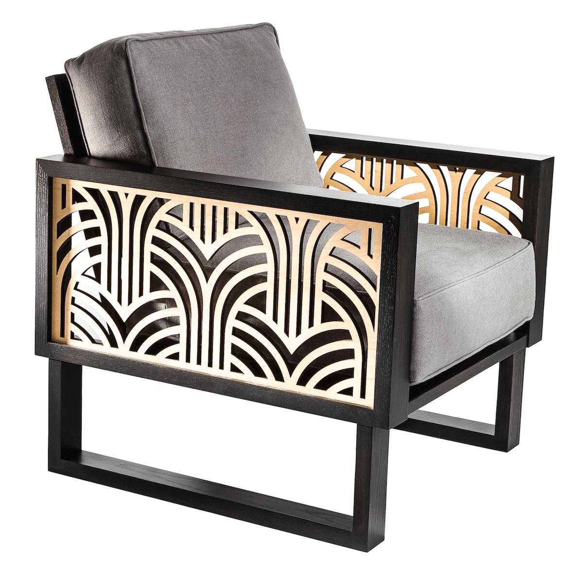 An Art Deco Lounge Chair Gray Twist Modern Deco Chairs Art Deco Chair Deco Furniture