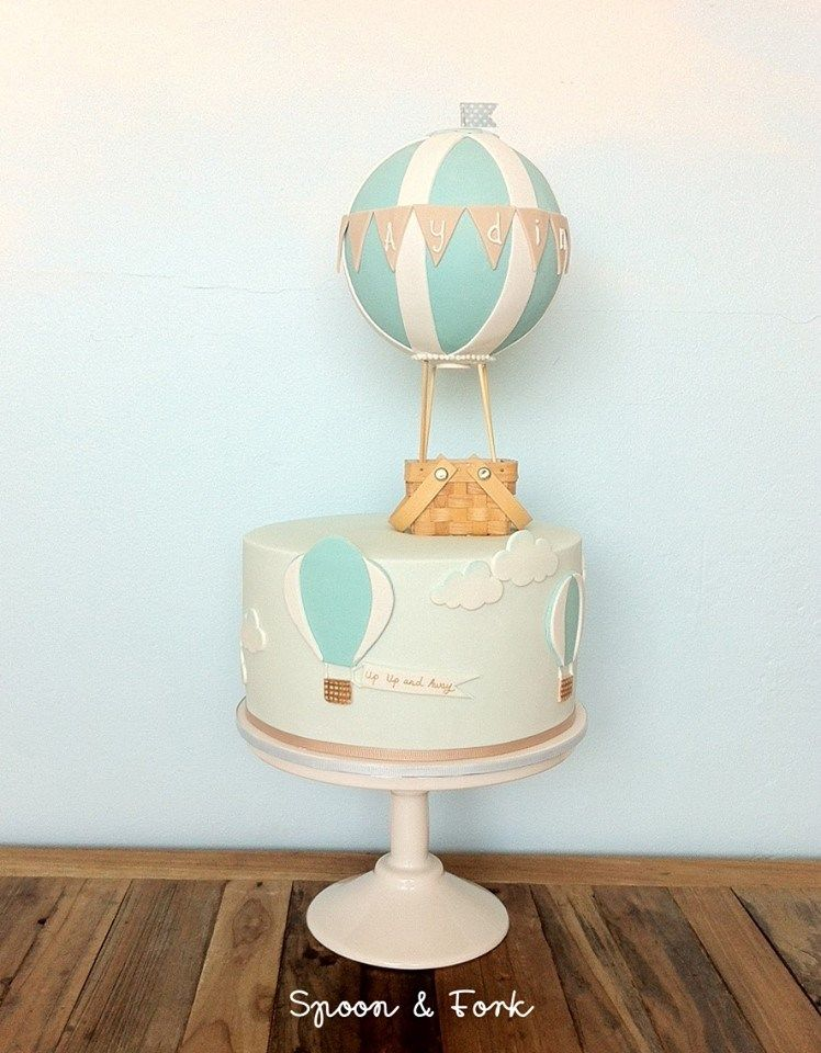 Spoon And Fork Cookies And Cakes Hot Air Balloon Cake Kids Cake