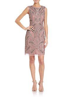 Aidan Mattox - Beaded Cutout Dress