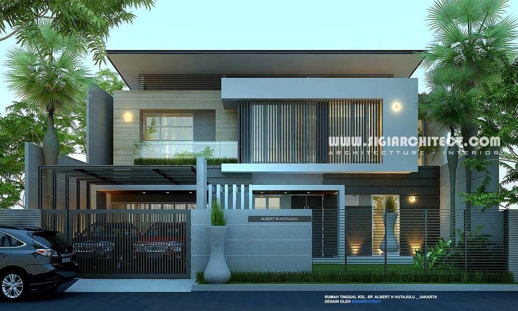 Rumah Mewah 2 Lantai Modern Minimalis My Home Plan Pbn House