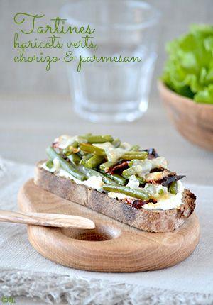 Tartines de haricots verts chorizo parmesan recettes rapides chorizo sandwiches et - Comment cuisiner les germes de soja frais ...