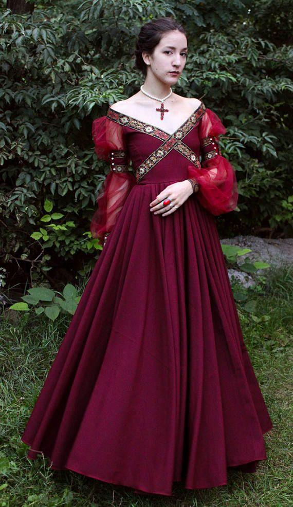 Fantasy Dress Cosplay Dress Fairy Dress Renaissance Dress | Etsy  sc 1 st  Pinterest & Fantasy Dress Fairy dress Renaissance dress Costume Medieval ...