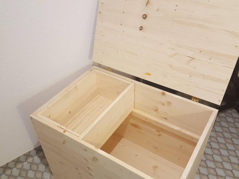 Brennholzkiste In 2020 Holzkiste Selber Bauen Holztruhe Holzkiste Bauen