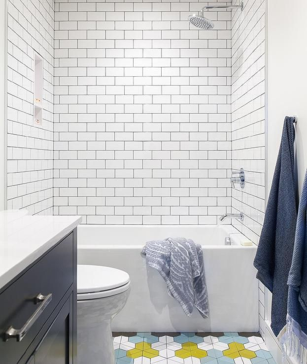 Geometric Floor Tiles Bathroom