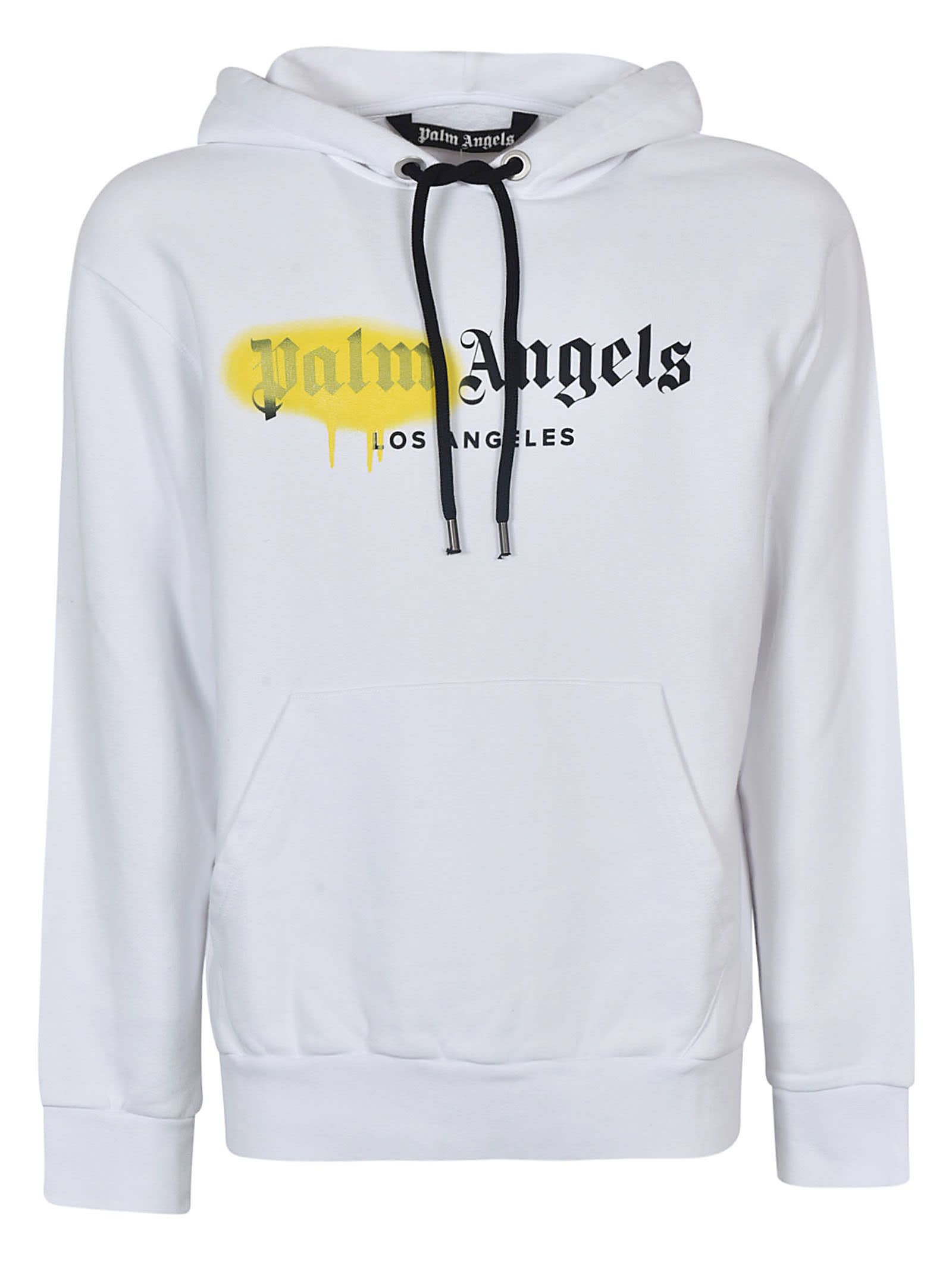 Best Price On The Market At Italist Palm Angels Palm Angels Logo Print Hoodie [ 2136 x 1600 Pixel ]