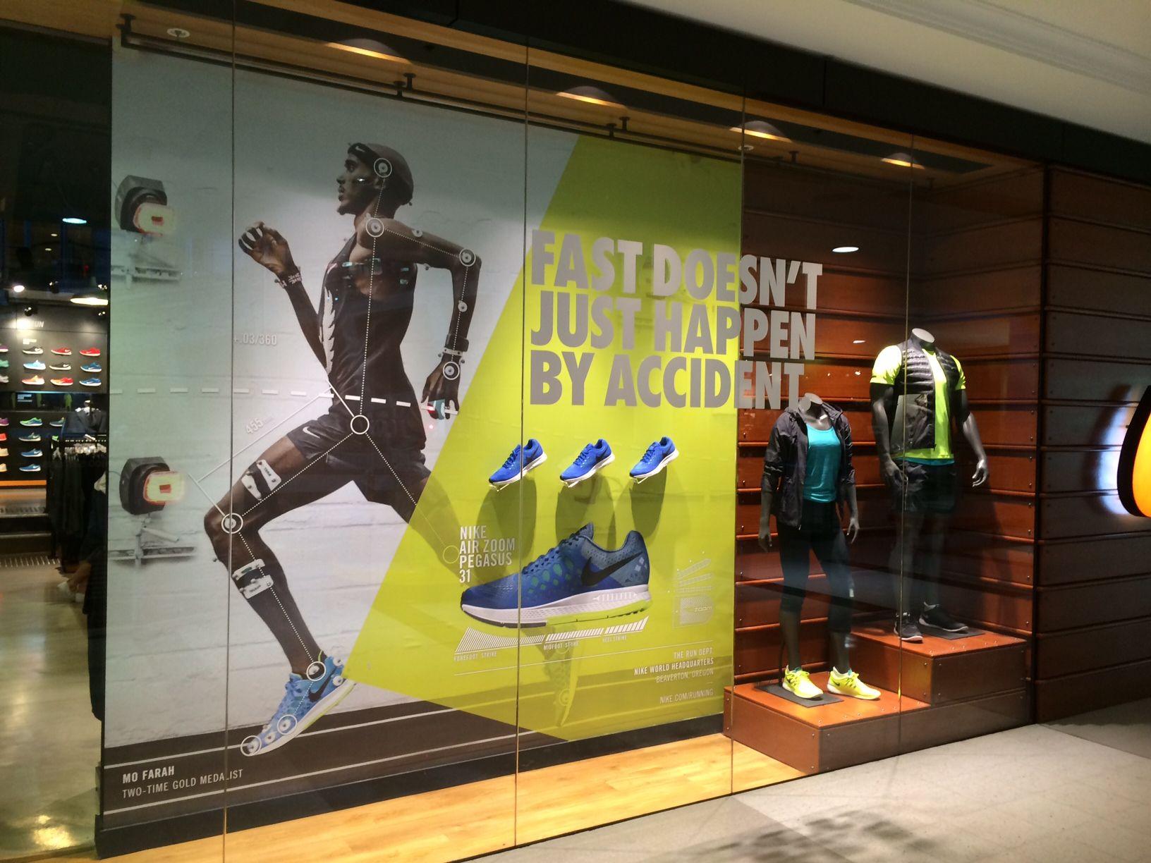 e42a798502fbd Nike Air Zoom Pegasus 31 retail window display sports shoe display ...