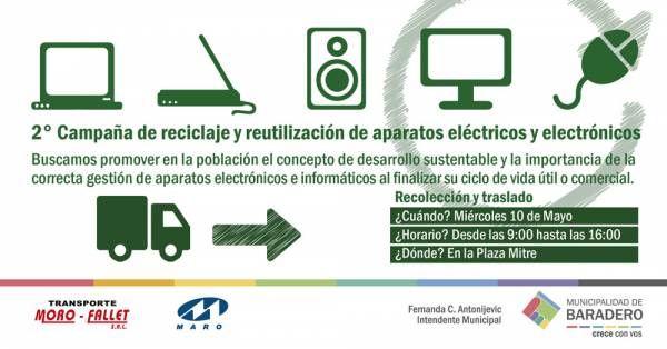2° Campaña de reciclaje y reutilización de aparatos eléctricos y electrónicos