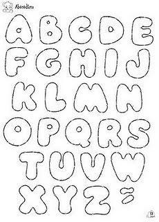 Letras redondeadas | Moldes de Letras | Felt letters, Letter