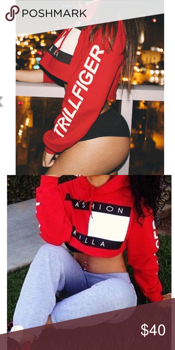 b2ac8689305fb TRILLFIGER FASHION KILLA Cropped Hoodie Brand new Fashion Killa Trillfigure  Hoodie. Cropped. Mediums are marked large. Smalls are marked medium.