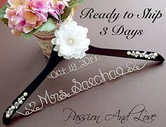 Personalize Bridal Hanger, Name Hanger, Wedding Hanger, Custom Hanger, Mrs. Hanger, Name Wire Hanger, Bridal Party Hanger Handmade by: Passion And Love Inc. http://www.amazon.com/dp/B00OYVYRJG/ref=cm_sw_r_pi_dp_TsvIvb17GRD06
