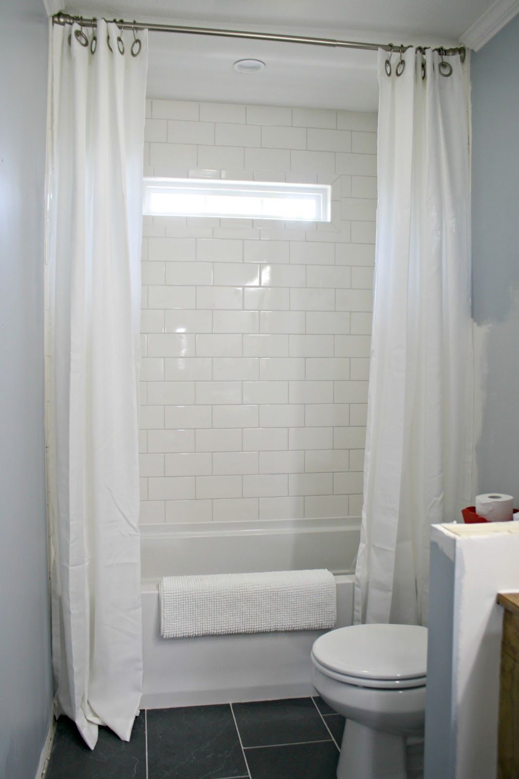 How To Use Drapes On Shower For Double Curtain Look Double