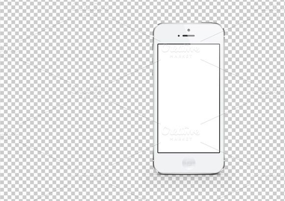 White IPhone 5 Layered Photoshop Template Featuring Attractive Desktop And Room Background Included In The