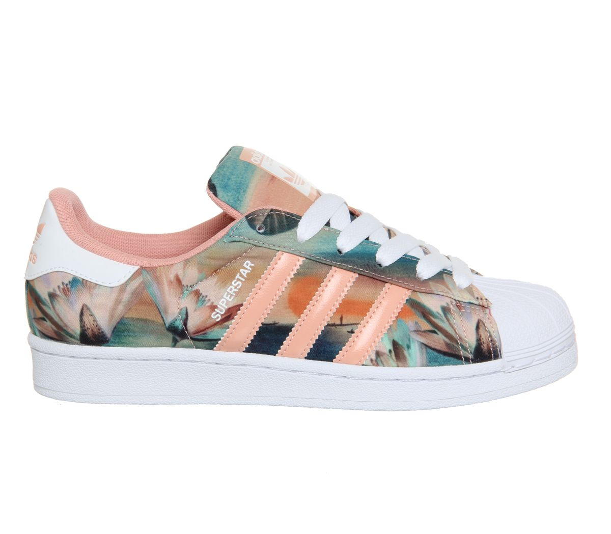 71bebc7fce9 Adidas Superstar 2 Dust Pink Farm Print W - His trainers