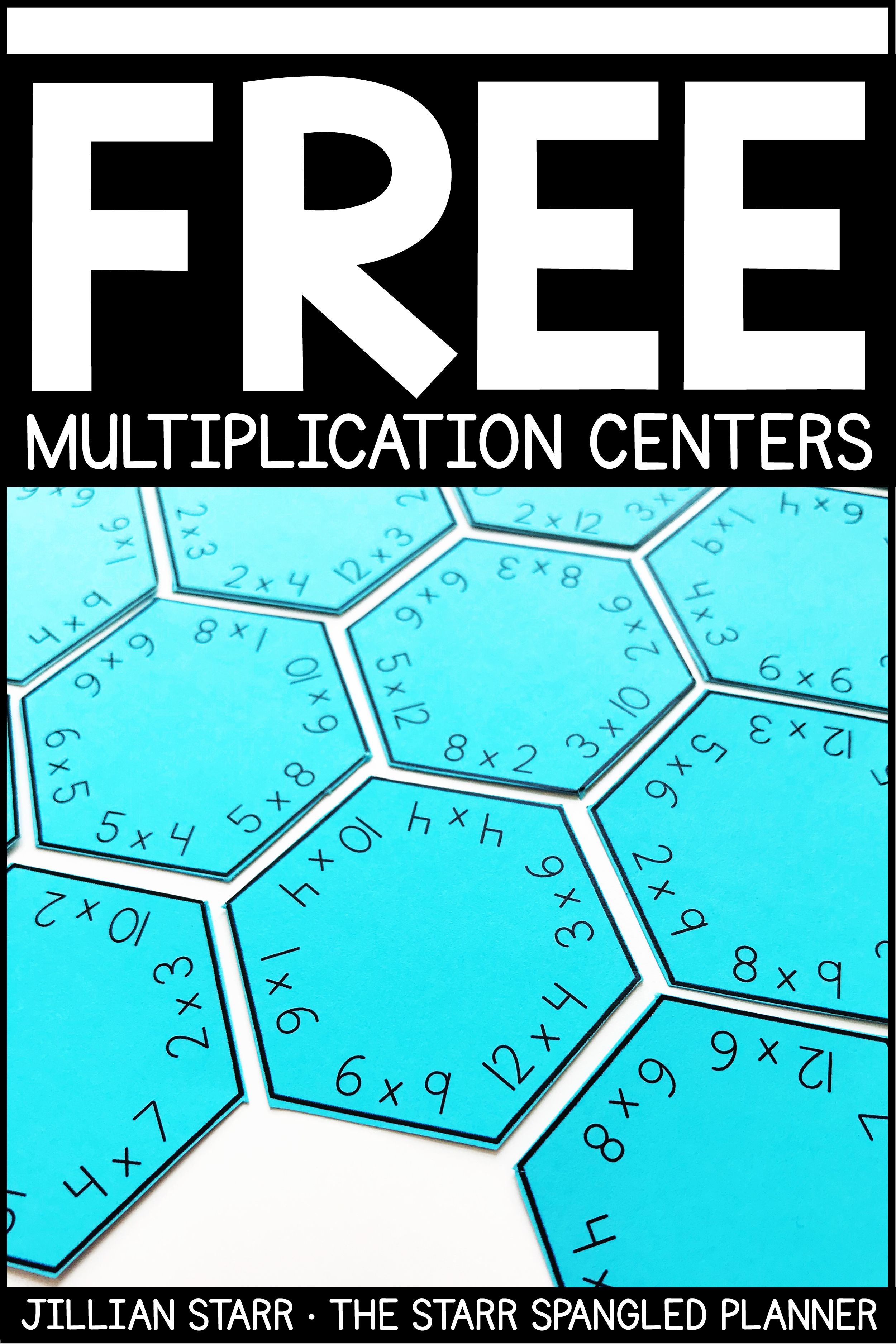 FREE MULTIPLICATION CENTERS | Logic puzzles, Multiplication facts ...