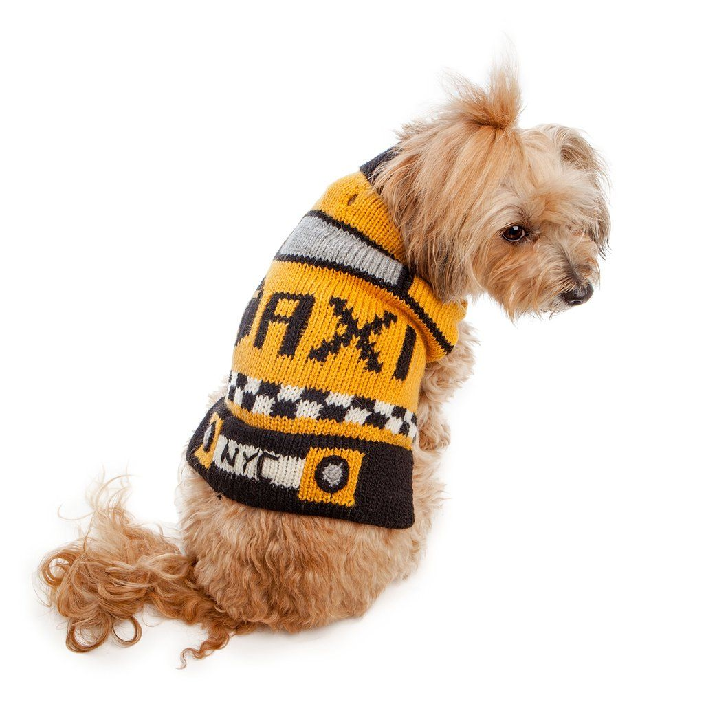 Peruvian Knits Taxi Sweater Dog Co Exclusive Puppy Face