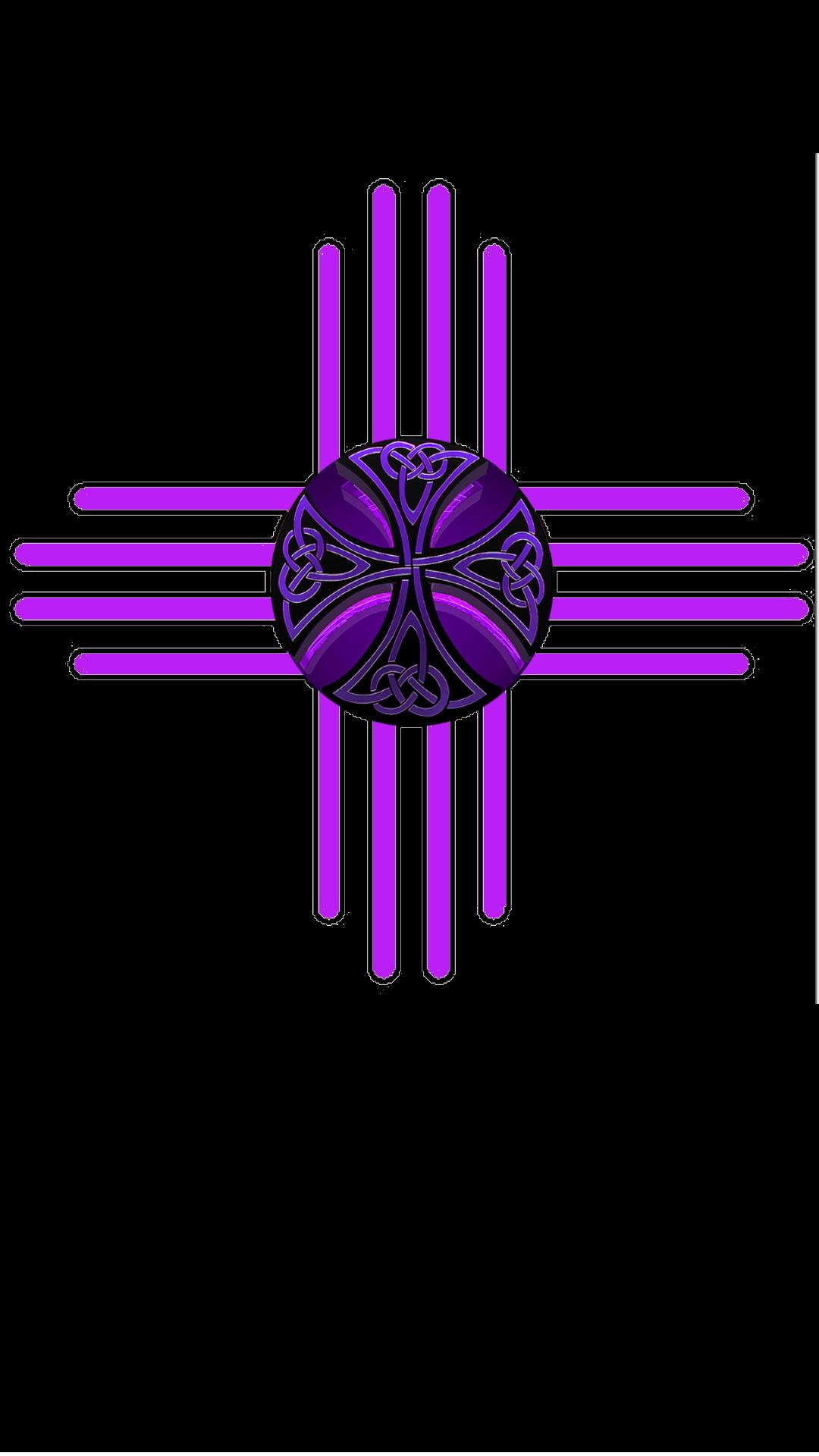 Native American Zia Purple Neon Celtic Cross New Mexico Tattoo Mexico Tattoo New Mexico