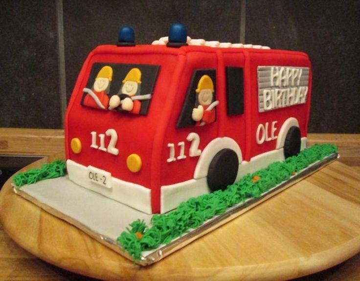 Feuerwehr Kuchen  backen  Fireman cake Cake Fire cake