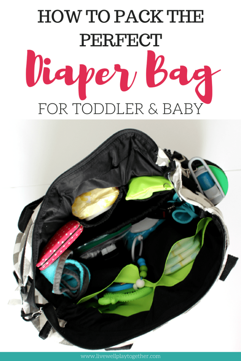 How to Pack the Perfect Diaper Bag  Diaper Bag Essentials for Toddler and  Baby from Live Well Play Together Blog  e763bad1fabe