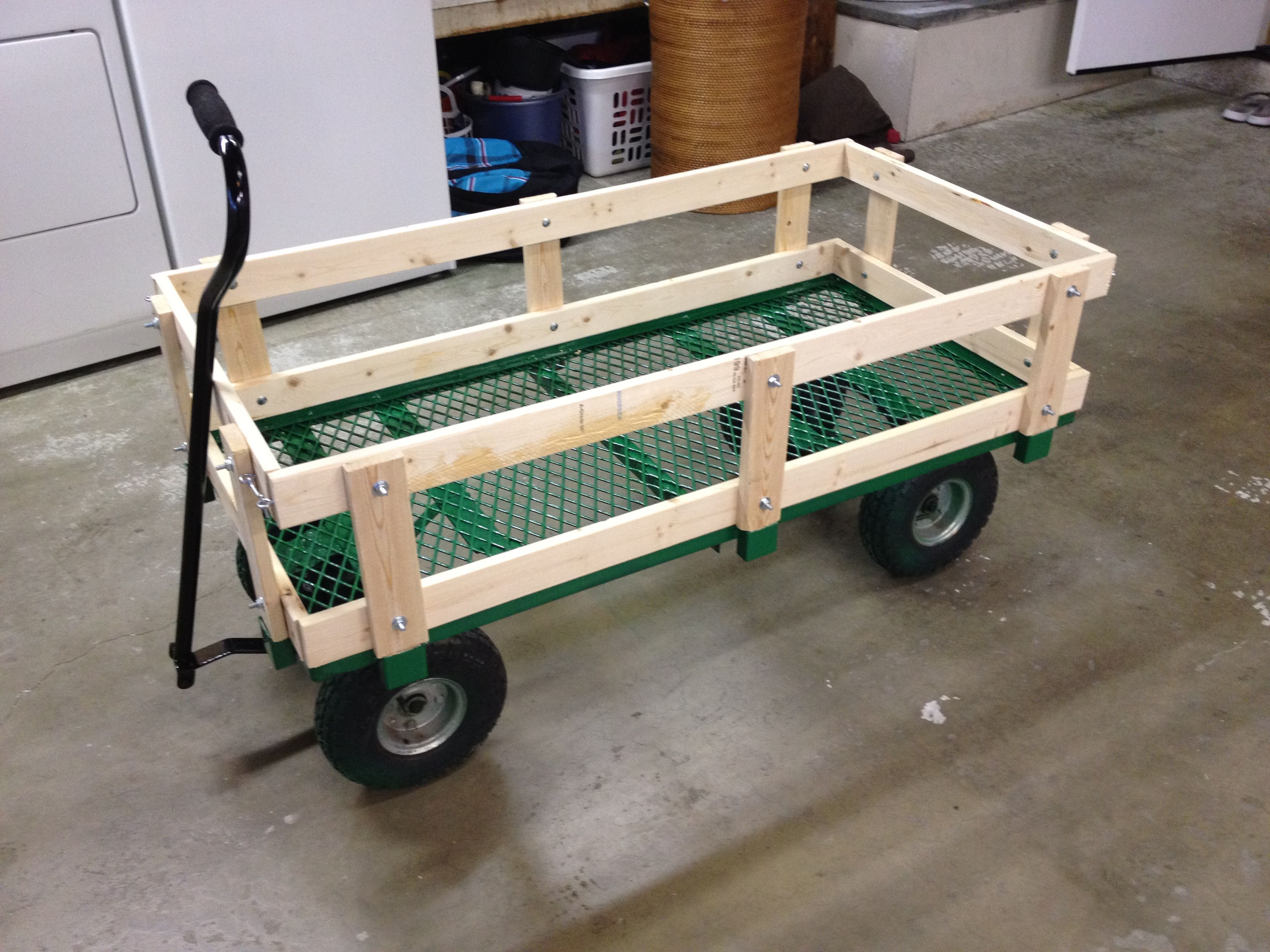 DIY Lawn Mower Wagon DIY Plans Pinterest