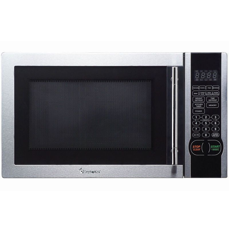 Magic Chef 1 1 Cu Ft Stainless Steel Microwave Oven Stainless Microwave Stainless Steel Microwave Digital Microwave