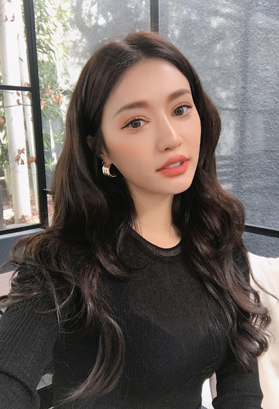 애쉬 레이어드컷  korean long hair asian beauty long hair styles