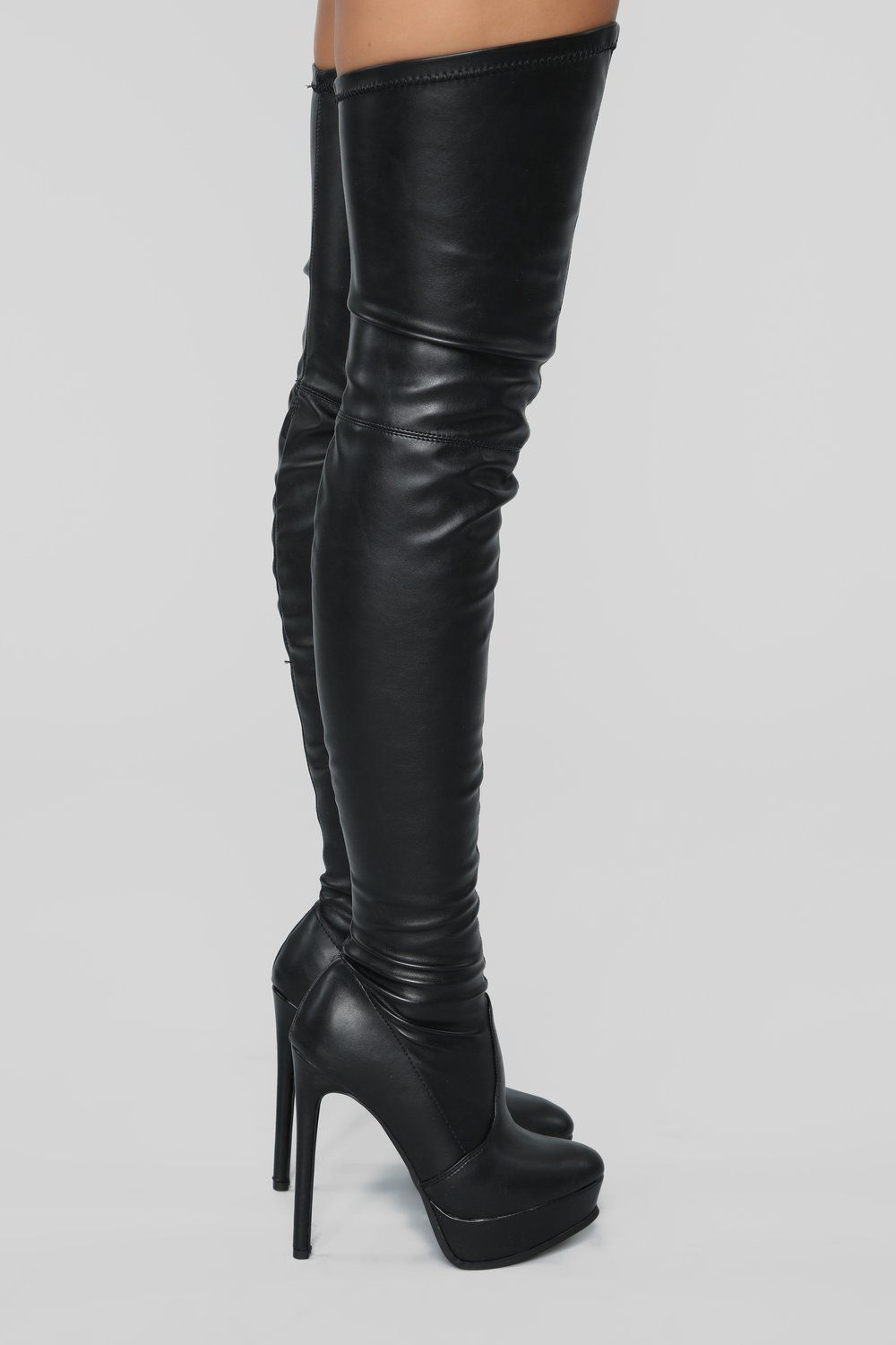 ec971301019 Envious Much Faux Leather Heeled Boot - Black in 2019 | shoes ...